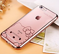 Cartoon Pattern Plating TPU Mobile Phone Cases/Covers For IPhone 6/6s (Assorted Colors)
