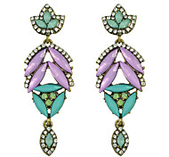 Bohemian Style Colorful Rhinestone Flower New Design Earrings
