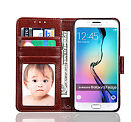 Crazy Horse Lines Pattern PU Material With Photo Frame Stent Holster For S7 Edge