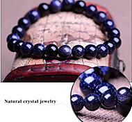 Blue Starry Sky Natural Genuine Crystal Gemstones Tibetan Beaded Strand Bracelet,Unisex Jewelry Christmas Gifts