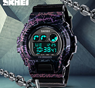 SKMEI® Fashion Black LCD Display Alarm Stopwatch Rubber Band Sports Watch Cool Watch Unique Watch