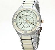 Men's Classic Design Alloy Band Quartz Wristwatch