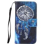 o novo caso padrão de couro cordão campanula azul coletor ideal com o titular do cartão para iPhone 6 / 6s