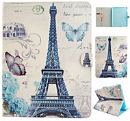 Parigi Torre illustrazione colorata o modello in pelle PU caso folio tablet custodia per ipad 4/3/2