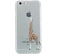 iphone 7 mais girafa TPU caso de telefone macio para iphone 6s 6 mais