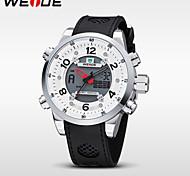 WEIDE® Brand New Men Waterproof Army Sports Quartz LCD Digital Rubber Strap Watch