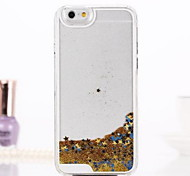 Stars Quicksand Style Transparent PC Hard Case for iPhone 6(Assorted Colors)