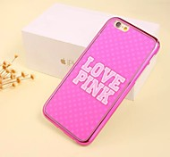 Pink Pattern Electroplating Cell Phone Shell For Iphone 6Plus/6s Plus (Assorted Colors)