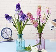 Polyester Violet Fleurs artificielles