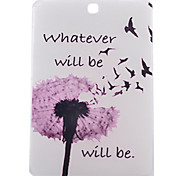 Dandelion Pattern PU Material Transparent Protective Case for Samsung T550/T560/T110/T230/T530