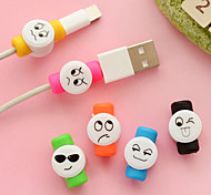 Expression Pattern  Protector for iPhone Cable(1 PCS Random Color)