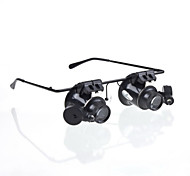 New Eyeglasses Camera 20X Magnifier Magnifying Lens Loupe Glasses Type LED Watch Repairment