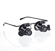 nouvelles lunettes caméra 20x loupe type lunettes loupe loupe conduit montre repairment