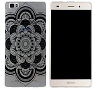 Mobile Shell funda protectora cáscara suave de TPU transparente patrón de corte de papel de flor para Huawei p8 Lite