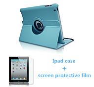 2016 venta superior de la caja de la PU del color sólido Origami de cuero y la película de pantalla protectora para el iPad Pro