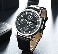 Authentic moment Leather watch Waterproof Skeleton Watch men watch quartz watch 3 second dish 2 band Color WH0037 Wrist Watch Cool Watch Unique Watch