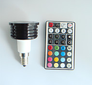 1pcs SchöneColors E14 4W High Power LED 300LM Dimmable/32Keys Remote-Controlled/Decorative RGB LED Spotlight AC 100-240V