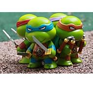 4 Q Mutant Ninja Turtles Cartoon Figure 1 Set Anime Action Figures Model Toy