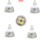 5pcs HRY® 4W MR16 450LM Warm/Cool White Color Light LED Spot Lights(12V)