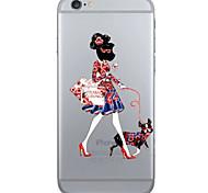 Creative Fashion Girl Pattern TPU Soft Case Phone Case iPhone 6/6S