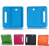 Для Кейс для  Samsung Galaxy Защита от удара / со стендом / Безопасно для детей Кейс для Чехол Кейс для Один цвет Силикон SamsungTab E