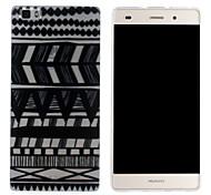 Mobile Shell funda protectora cáscara suave de TPU transparente patrón abstracto pintura para Huawei p8 Lite