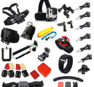Go pro Hero Accessories 39 in 1 Set Helmet Harness Chest Belt Mount Strap Monopod For Gopro hero4 3+ xiaomi yi sjcam