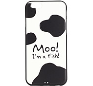 The Cow Grain Pattern 3D Print Embossed TPU Soft Back Case for iphone6plus/6splus