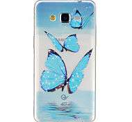 Butterfly Pattern TPU Relief Back Cover Case for Galaxy Grand Prime/Galaxy Core Prime/Galaxy J5