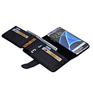 Solid Color PU Leather Walletr Cases With 7 Cards Slot for Galaxy S7 / S7 edge