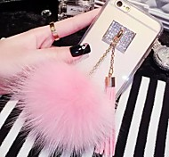 LADY®The Fox Fur Ball Tassel Case for iphone 6 plus/6s plus(5.5 inch),
