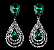 Earring Drop Earrings Jewelry Women Alloy 2pcs White / Blue