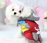 Dog Clothes/Jumpsuit Red / Blue Dog Clothes Spring/Fall Fashion