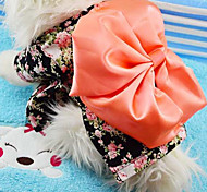 Dog Sweatshirt Dog Clothes Winter Spring/Fall Floral / Botanical Fashion Holiday New Year's Black Blushing Pink