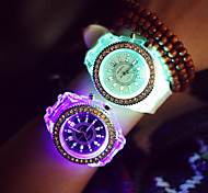 Women's Round Dial Luminous Silicone Band Fashion Quartz Sport Watches (Assorted Colors) Cool Watches Unique Watches