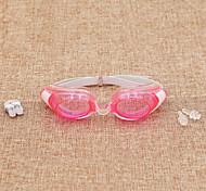 плавательные очки Универсальные Водонепроницаемый Силикагель Пластик Прозрачные желтый / красный