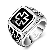 Ring Jewelry Steel Cross Silver Jewelry Wedding Party Halloween Daily Casual 1pc