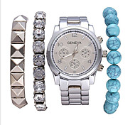 Women's Fashion Stainless Steel Band Quartz Analog Wrist Watch(Assorted Colors) Cool Watches Unique Watches