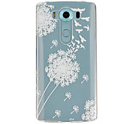 Dandelion  Pattern TPU Relief Back Cover Case for LG V10