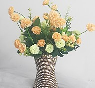 Silk / Plastic Chrysanthemum Artificial Flowers with Vase
