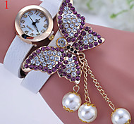 Ladies' Watch The New Fashion Quartz Watch Big Butterfly Pearl Decoration Lady Bracelet Cool Watches Unique Watches
