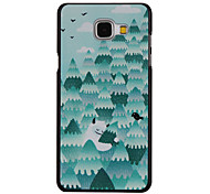 Forest Snowman Pattern PC Material Hard Case for Samsung Galaxy A3 10(2016)/A5 10(2016)/A7 10(2016)