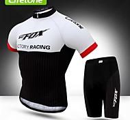 BATFOX Cycling Clothing Sets/Suits / Jerseys Men's Bike Breathable / Ultraviolet Resistant / Anti-Eradiation / Windproof / YKK Zipper