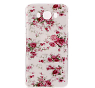 Rose Pattern TPU Soft Case for Galaxy J1 Ace/Galaxy J5(2016)/Galaxy J1(2016)