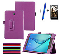 Top Quality Stand PU Leather Cover Case For Samsung Galaxy Tab A 8.0 T350 T355 Tablet With Free Screen Protector+ Pen