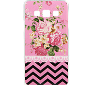 Pink Peony Pattern IMD+TPU Back Cover Case for Samsung Galaxy A3/A5