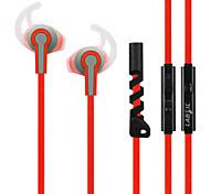 ls-66 labsic 3.5mm stéréo hifi oreille de sport bouchons d'oreilles avec micro pour smartphones