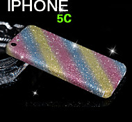Full Body Glitter for iPhone 5C Shiny Phone Sticker Case Sparkling Diamond Film Decals (Assorted Colors)
