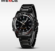WEIDE® Men's Quality Analog Digital LED Watch Casual Fashion Stainless Steel Wrist Watch