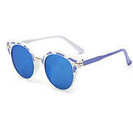 Sunglasses Men / Women / Unisex's Modern / Fashion Round Black / White / Pink / Fuchsia / Blue Sunglasses Full-Rim